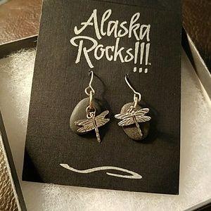 Alaska Rocks Dragonfly earrings